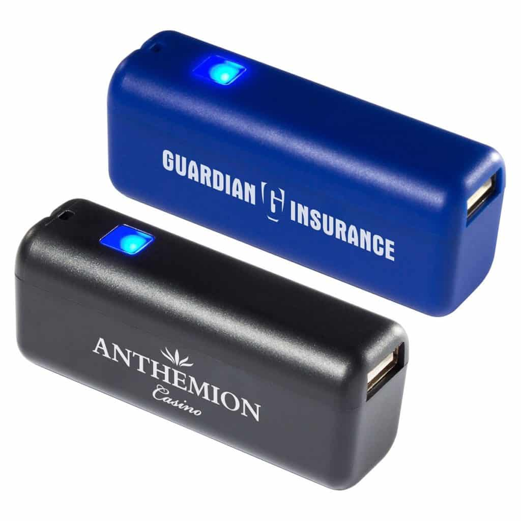 Black and blue charging banks