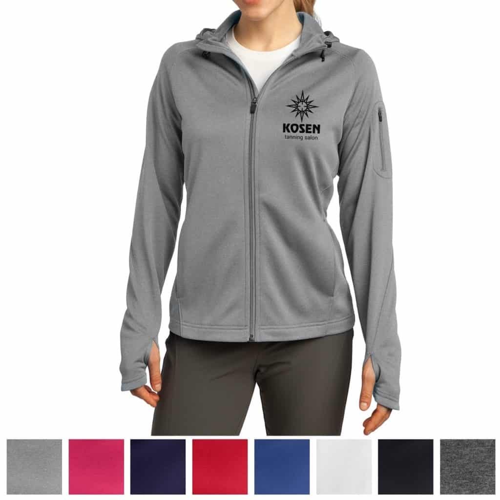 Grey zip-up jacket corporate products