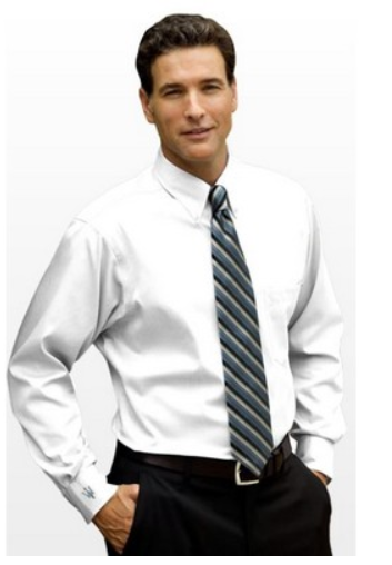 Eagle No-Iron Pinpoint Oxford Long Sleeve Shirt