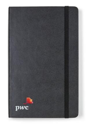 Black Moleskine® Hard Cover Ruled Large Expanded Notebook
