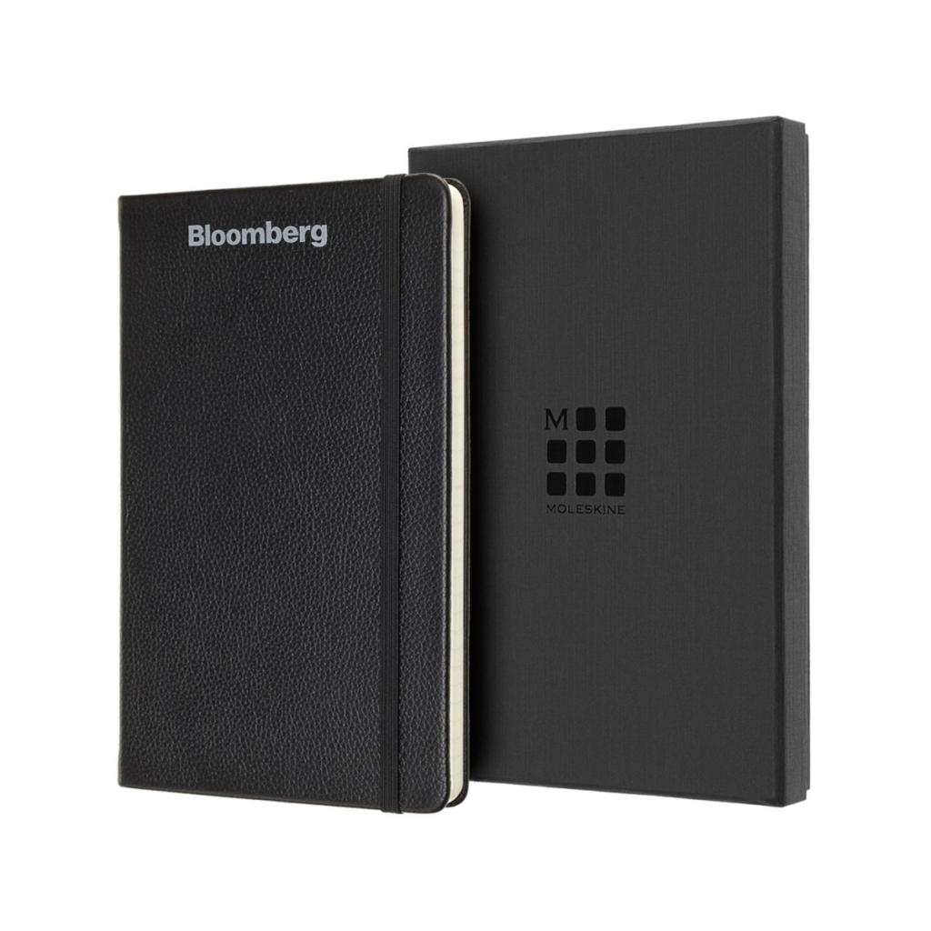 Moleskine® Leather Ruled Large Notebook Black
