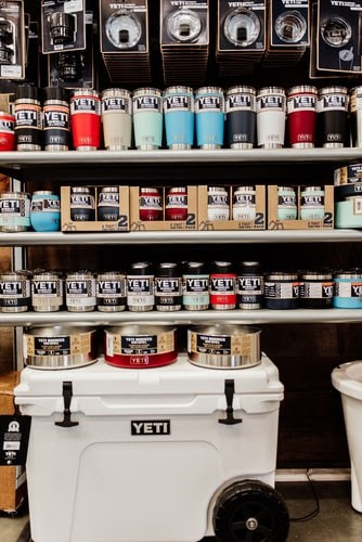 Yeti cups and coolers
